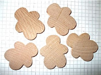 5 x Wooden Fat Gingerbreadman  Solid Wood
